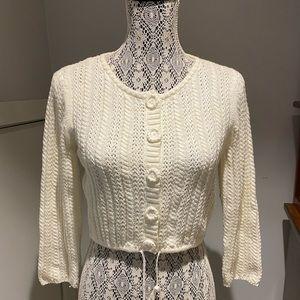 Calvin Klein vintage cropped sweater 3/4 sleeve